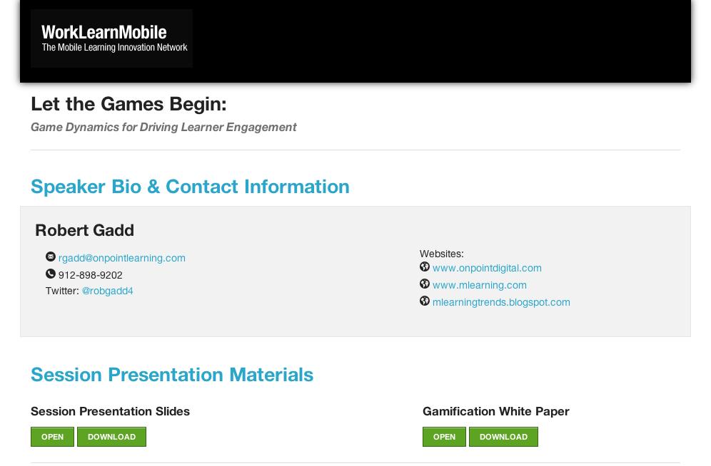 Gamification materials